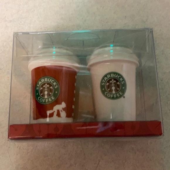 Starbucks Holiday 2006 Christmas Ornament Pair